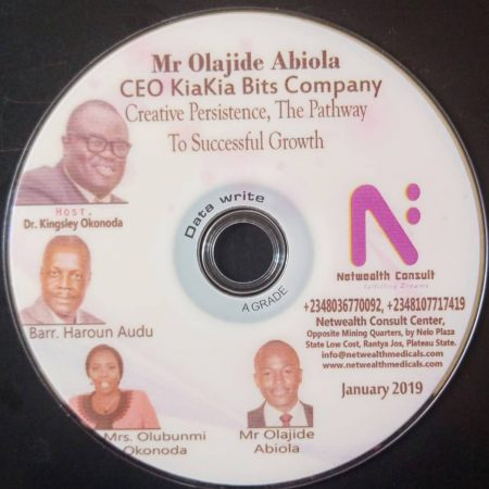 Creative Persistence; The Pathway to Successful Growth (Audio). Mr Olajide Abiola